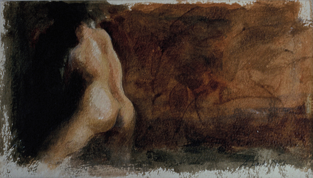 Water Colour Nude Study 40x22cm