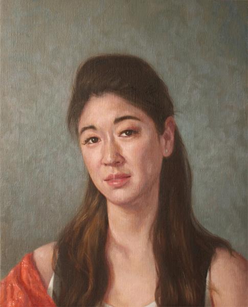 Young Actress 50x40 cm
